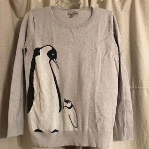 LOFT   Penguin Design Sweater - M